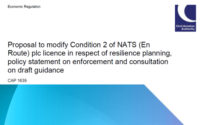 CAA proposal to require NATS (En Route) plc to submit a resilience plan